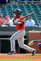 Birmingham Barons outfielder Brandon Short #15 during a game against the Chattanooga Lookouts on April 17, 2013 at AT&T Field in Chattanooga, Tennessee.  Chattanooga defeated Birmingham 5-4.  (Mike Janes/Four Seam Images)
