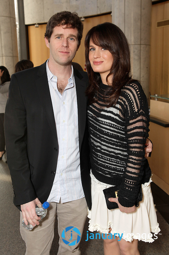 "BEVERLY HILLS, CA - JUNE 06:  Director Gavin Wiesen and Elizabeth Reaser attend a Fox Searchlight screening Of ""The Art Of Getting By"" at Clarity Theater on June 6, 2011 in Beverly Hills, California.  (Photo by Todd Williamson/WireImage)"