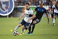 SAN JOSE, CA - AUGUST 25: Russell Teibert  #31 of the Vancouver Whitecaps during a game between Vancouver Whitecaps FC and San Jose Earthquakes at Avaya Stadium on August 24, 2019 in San Jose, California.