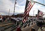 The Carson Middle School marching band particiates in the Veteran's Day Parade in Virginia City, Nev., on Nov. 11, 2011..Photo by Cathleen Allison.