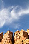 Canyonlands National Park, Utah, Backpacking, Chesler Park Trail, Elephant Canyon, the Needles District, red rock landscape, Southwest, United States, USA,