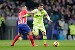 Club Atletico de Madrid's Koke Resurreccion (L) and Futbol Club Barcelona's Leo Messi  during La Liga match. November 24,2018. (ALTERPHOTOS/Alconada)