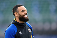 Kahn Fotuali'i of Bath Rugby looks on prior to the match. Gallagher Premiership match, between Bath Rugby and Harlequins on March 2, 2019 at the Recreation Ground in Bath, England. Photo by: Patrick Khachfe / Onside Images