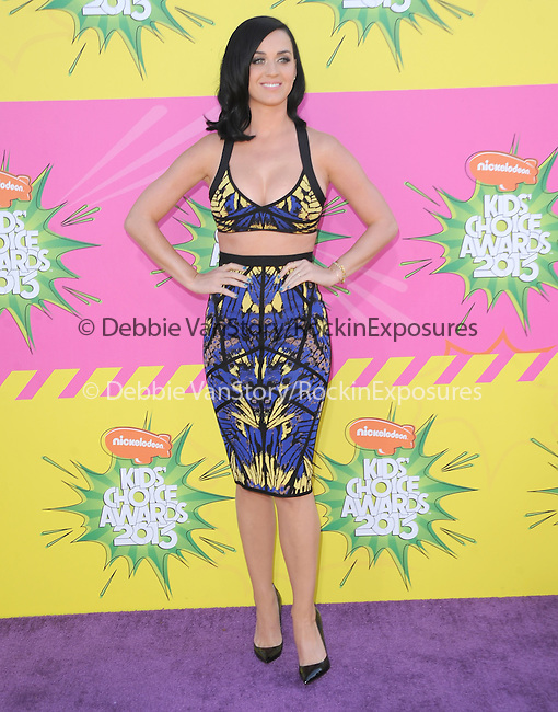Katy Perry at The Nickelodeon's Kids' Choice Awards 2013 held at The Galen Center in Los Angeles, California on March 23,2013                                                                   Copyright 2013 Hollywood Press Agency