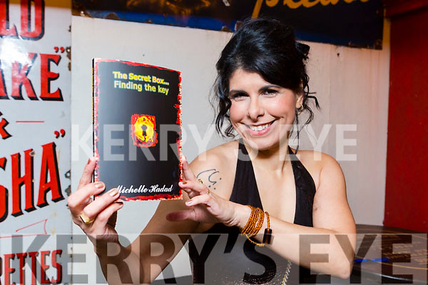 Michelle Hadad with her book The Secret Box... Finding the key in Reidys bar Killarney on Friday night