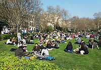 MAR 29 Londoners do Lunch in the spring sunshine