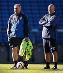 Ally McCoist and Kenny McDowall watching training