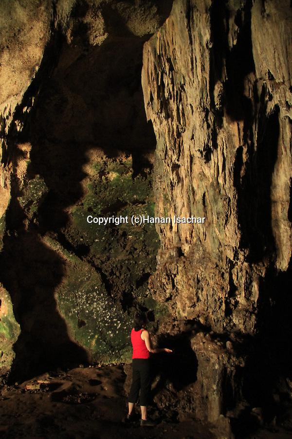 Israel, Sfunim cave in Mount Carmel