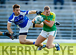 Paul O'Donoghue South Kerry in action against Danny O'Sullivan Kerins O'Rahillys in the Kerry Senior Football Championship Semi Final at Fitzgerald Stadium on Saturday.