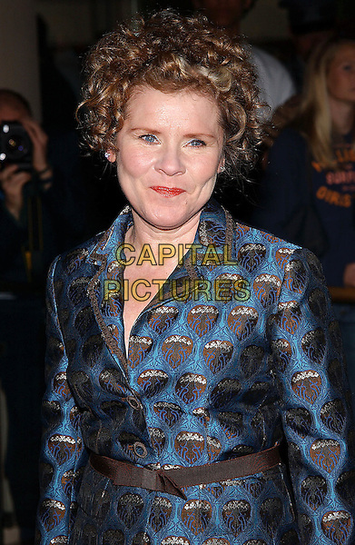 IMELDA STAUNTON.77th Annual Academy Award Nominees Luncheon held at the Beverly Hilton Hotel. Beverly Hills, California .February 7th, 2005.Photo Credit: Jacqui Wong/AdMedia.half length, silk satin pattern dress.www.capitalpictures.com.sales@capitalpictures.com.© Capital Pictures.