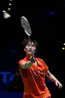 14th March 2020, Arena Birmingham, Birmingham, UK; Chinas Chen Yufei competes during the womens singles semifinal match between Chinas Chen Yufei and Japans Okuhara Nozomi at All England Badminton 2020 in Birmingham