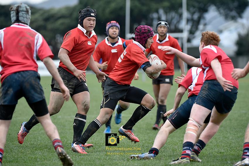 Rugby and Beyond - Japan Team v HIBS at Petone Recreation, Lower Hutt, New Zealand on Sunday 26 July 2015.<br /> Photo by Masanori Udagawa. <br /> www.photowellington.photoshelter.com.