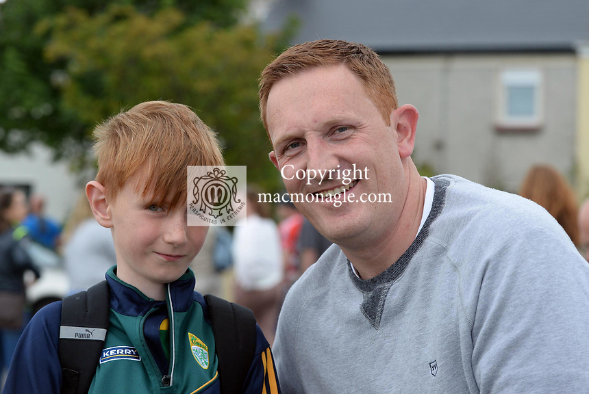 2-7-2017: Former Kerry footballer Noel Kennelly and his son Timmy at the Kerry V Cork Munster Football final in Killarney on Sunday.<br /> Photo: Don MacMonagle<br /> <br /> Vox pop Majella O&quot;Sullivan