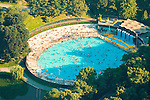 Aerial view of Lasker Pool in Central Park, New York