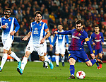 25th September 2018, Camp Nou, Barcelona, Spain; Copa del Rey football, quarter final, second leg, Barcelona versus Espanyol; Leo Messi shoot