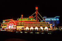 Steamboat Casino with Neonlights in Las Vegas gambling city in Nevada, USA