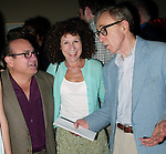 Woody Allen with his wife Soon-Yi Allen .and Danny Devito with his wife Rhea Perlman.Attending the Pre-Cocktail Reception Party for the Movie Premiere of ANYTHING ELSE at Restaurant Brasserie .8 1/2  with a Screening at the Paris Theatre, .New York City..September 16, 2003..
