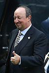 Rafa Benitez, manager of Newcastle United gives a thumbs up and a wink during the Barclays Premier League match at St James' Park. Photo credit should read: Philip Oldham/Sportimage