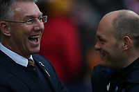 Hull City manager Nigel Adkins (left) and Preston North End manager Alex Neil <br /> <br /> Photographer Stephen White/CameraSport<br /> <br /> The EFL Sky Bet Championship - Preston North End v Hull City - Wednesday 26th December 2018 - Deepdale Stadium - Preston<br /> <br /> World Copyright &copy; 2018 CameraSport. All rights reserved. 43 Linden Ave. Countesthorpe. Leicester. England. LE8 5PG - Tel: +44 (0) 116 277 4147 - admin@camerasport.com - www.camerasport.com