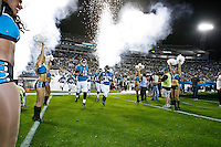 December 05, 2011:   Jacksonville Jaguars quarterback Blaine Gabbert (11) and running back Maurice Jones-Drew (32) lead the team on the field prior to the start of action between the Jacksonville Jaguars and the San Diego Chargers played at EverBank Field in Jacksonville, Florida.  ........