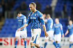 St Johnstone v Kilmarnock....09.01.16  Scottish Cup  McDiarmid Park, Perth<br /> Steven Anderson trudges off at full time<br /> Picture by Graeme Hart.<br /> Copyright Perthshire Picture Agency<br /> Tel: 01738 623350  Mobile: 07990 594431