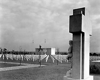 St. Mihiel American Cemetery, near Thiaucourt, France.  Soldier Monument and Chapel, Ca. 1925-35.  (American Battle Monuments Commission)<br />