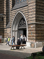 Portal der Marienkirche in Rostock, Mecklenburg-Vorpommern, Deutschland