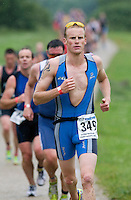 06 JUL 2008 - WAKEFIELD, UK -  Ross Cooney - British Age Group Triathlon Championships. (PHOTO (C) NIGEL FARROW)
