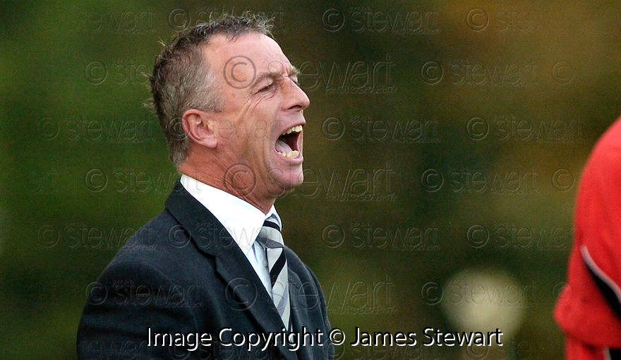 21/10/2006       Copyright Pic: James Stewart.File Name :sct_jspa26_gretna_v_clyde.GRETNA BOSS ROWAN ALEXANDER WATCHES HIS SIDE AGAINST CLYDE......Payments to :.James Stewart Photo Agency 19 Carronlea Drive, Falkirk. FK2 8DN      Vat Reg No. 607 6932 25.Office     : +44 (0)1324 570906     .Mobile   : +44 (0)7721 416997.Fax         : +44 (0)1324 570906.E-mail  :  jim@jspa.co.uk.If you require further information then contact Jim Stewart on any of the numbers above.........