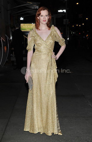New York, NY- October 23: Karen Elson spotted on Wall Street attending the 31st annual FGI Night Of Stars event at Cipriani Wall Street on October 23, 2014 in New York City. Credit: John Palmer/MediaPunch