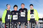Noelle Brosnan, Mary Devane, Thomas P.Crean and Florence O'Meara at the Valentines 10 mile road race in Tralee on Saturday.