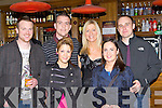 Ringing in the New Year in Scotts bar Killarney on Friday night was front l-r: Kelly O'Sullivan, Triona Hussey. Back row: Jonathon Cahill, Colin Bevan, Liz Scanlon and Tony Scully Kenmare
