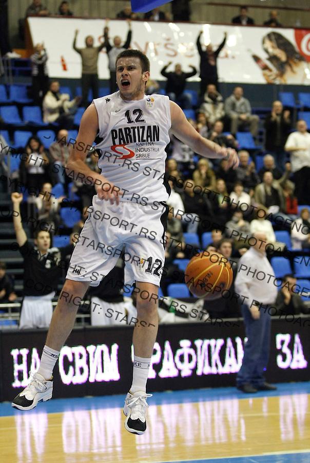 Kosarka, NLB League, season 2008/09.Partizan Vs. FMP Zeleznik.Novica Velickovic.Beograd, 31.01.2009.Photo: © Srdjan Stevanovic/Starsportphoto.com