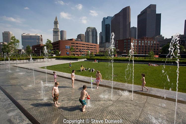 North End greenway park fountain, Boston, MA
