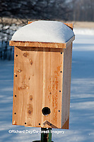 01715-02917  Winter Roosting Box for birds, Marion Co., IL