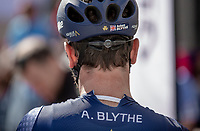 Adam Blythe (GBR/Aqua Blue Sport), with a ripped-open shirt pre race.<br /> <br /> 1st Great War Remembrance Race 2018 (UCI Europe Tour Cat. 1.1) <br /> Nieuwpoort &gt; Ieper (BE) 192.7 km