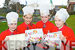 Jane McGillicuddy, Sarah Leahy, Ellen Corridon and Leonie Baker with the new cook book 'Cook King Time' compiled by the 5th class in Holy Cross Mercy NS, Killarney which was launched in the school on Tuesday morning..