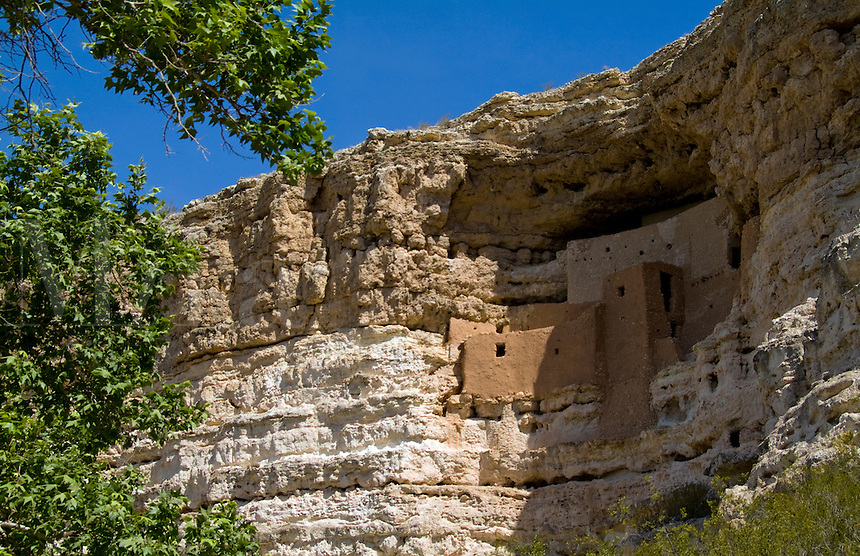 Montezuma Castle. Cliff cave dwellings of American Indians, New Mexico, USA