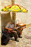 Paris - France - Montmatre - Busker with guitar