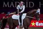Vaulter Kristian Roberts and his horse Dante during Madrid Horse Week at Ifema in Madrid, Spain. November 26, 2017. (ALTERPHOTOS/Borja B.Hojas)