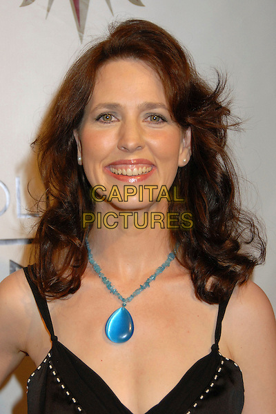 "URSULA BURTON.2nd Annual ""Hot In Hollywood"" Benefit for the AIDS Healthcare Foudation at the Henry Fonda Music Box Theatre, Hollywood, California, USA..August 18th, 2007.headshot portrait blue turquoise necklace .CAP/ADM/BP.©Byron Purvis/AdMedia/Capital Pictures"