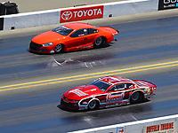 Jul 30, 2017; Sonoma, CA, USA; NHRA pro stock driver Greg Anderson (near) alongside Tom Huggins during the Sonoma Nationals at Sonoma Raceway. Mandatory Credit: Mark J. Rebilas-USA TODAY Sports