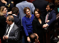 Il Ministro della Semplificazione per la Funzione Pubblica Marianna Madia durante la seduta comune di deputati e senatori per l'elezione del nuovo Presidente della Repubblica, alla Camera dei Deputati, Roma, 30 gennaio 2015.<br /> Italian Simplification for Public Function Minister Marianna Madia attends a joint plenary session of senators and deputies to vote for the election of the new President, at the Lower Chamber, Rome, 30 January 2015.<br /> UPDATE IMAGES PRESS/Riccardo De Luca