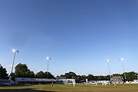 Blue skies over the ground and the floodlights on during Essex CCC vs Somerset CCC, Specsavers County Championship Division 1 Cricket at The Cloudfm County Ground on 25th June 2018