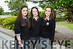 l-r  Victoria Ni Chathain, Amanda Ni Lochlainn and Megan Ni Sheoin at the  Gaelcholáiste Chiarraí Awards night in Ballygarry House Hotel on Thursday