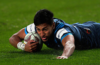 Rieko Ioane scores for the Blues during the 2017 DHL Lions Series rugby union match between the Blues and British & Irish Lions at Eden Park in Auckland, New Zealand on Wednesday, 7 June 2017. Photo: Dave Lintott / lintottphoto.co.nz