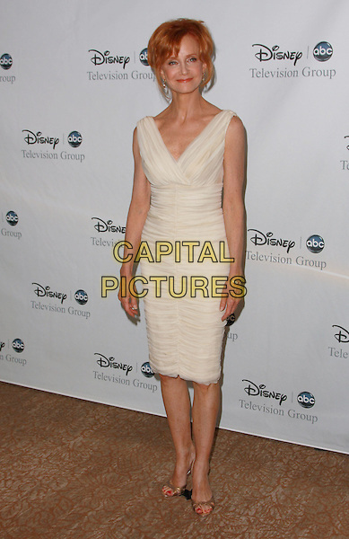 SWOOZIE KURTZ.Disney, ABC Television Group All Star Party held at the Beverly Hilton Hotel,Beverly Hills, California, USA..July 17th, 2008.full length dress white cream.CAP/ADM/CH.©Charles Harris/AdMedia/Capital Pictures