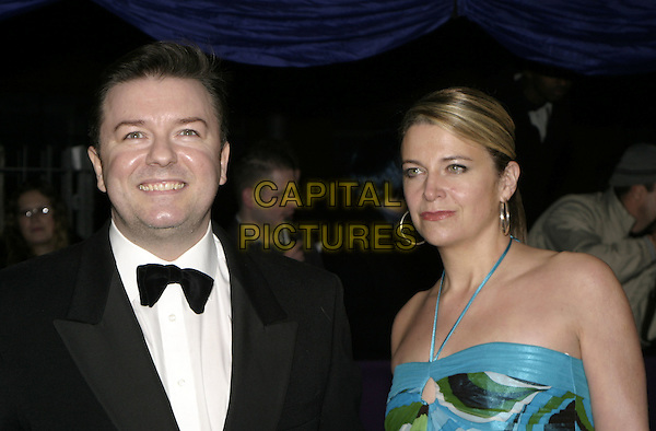RICKY GERVAIS & JANE FALLON.British Comedy Awards 2004, London Television Studios, London, December 22nd 2004..portrait headshot girlfriend couple Ref: AH.www.capitalpictures.com.sales@capitalpictures.com.©Capital Pictures.