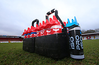 Water bottles on the pitch during Stevenage vs Crewe Alexandra, Sky Bet EFL League 2 Football at the Lamex Stadium on 10th March 2018