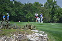 Billy Horschel (USA) looks over his approach shot on 1 during day 1 of the Valero Texas Open, at the TPC San Antonio Oaks Course, San Antonio, Texas, USA. 4/4/2019.<br /> Picture: Golffile | Ken Murray<br /> <br /> <br /> All photo usage must carry mandatory copyright credit (© Golffile | Ken Murray)